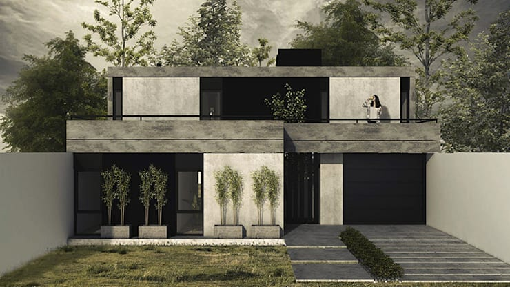 Fachada: Casas unifamiliares de estilo  por MOD   Arquitectura,