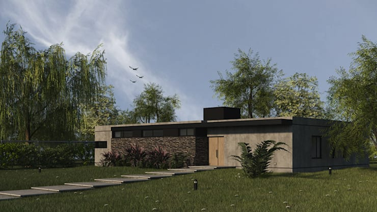 Frente: Casas unifamiliares de estilo  por MOD | Arquitectura,