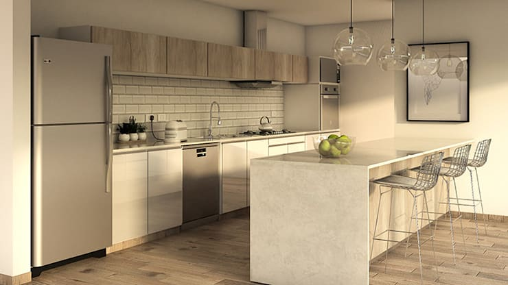 Built-in kitchens by MOD | Arquitectura, Scandinavian Wood Wood effect