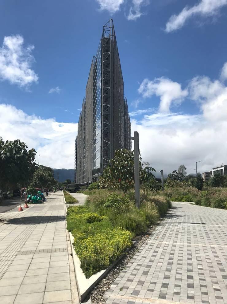Infraestructura Verde del Edificio Elemento de Helecho SAS Moderno