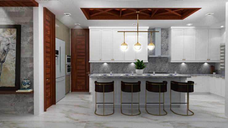 Cuisine intégrée de style  par BSRG Arquitectura,