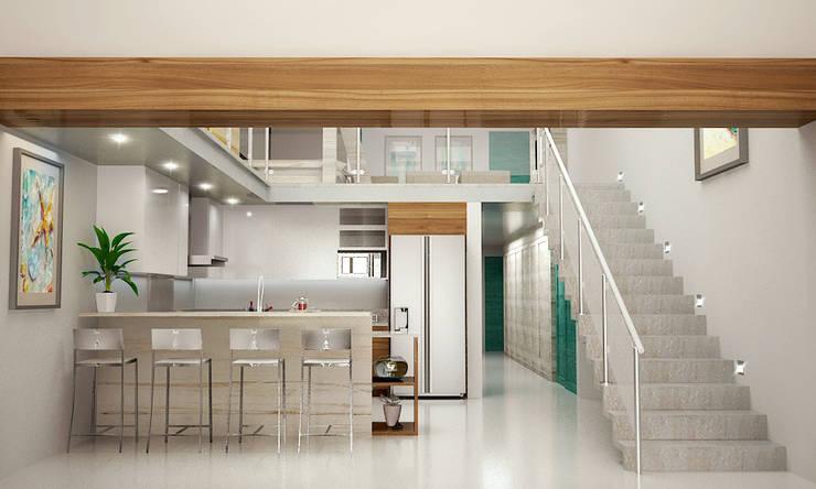 Petites cuisines de style  par BSRG Arquitectura,