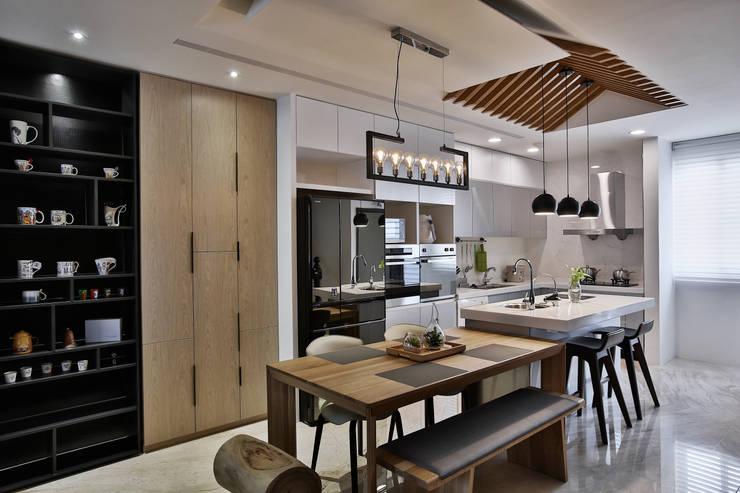 餐廚:  廚房 by 安提阿設計有限公司,