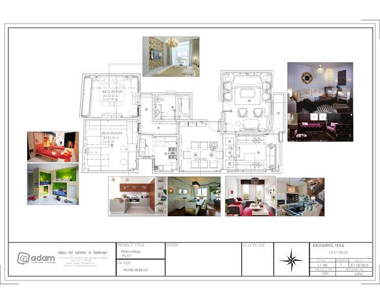 Average Apartment:  تصميم مساحات داخلية تنفيذ ADAMfor interior&landscpe