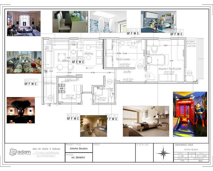Apartment: حديث  تنفيذ ADAMfor interior&landscpe, حداثي مزيج خشب وبلاستيك