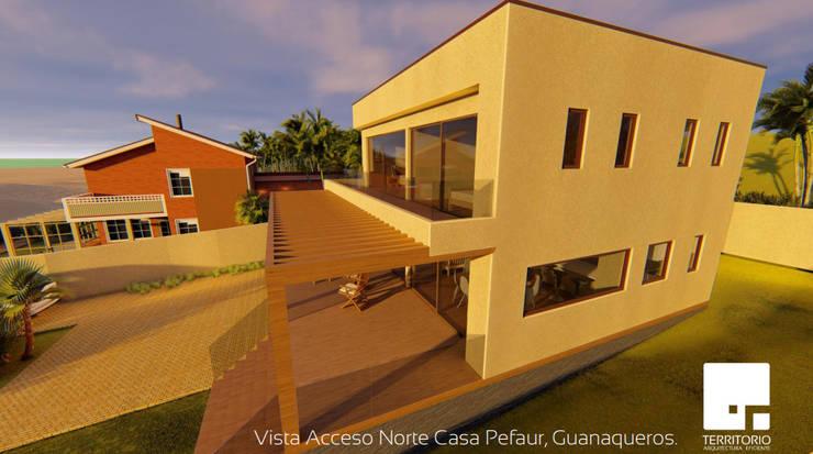 Fachada: Cabañas de estilo  por Territorio Arquitectura y Construccion - La Serena