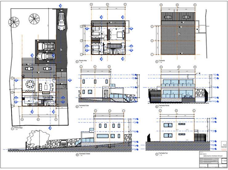 Planos:  de estilo  por Territorio Arquitectura y Construccion - La Serena