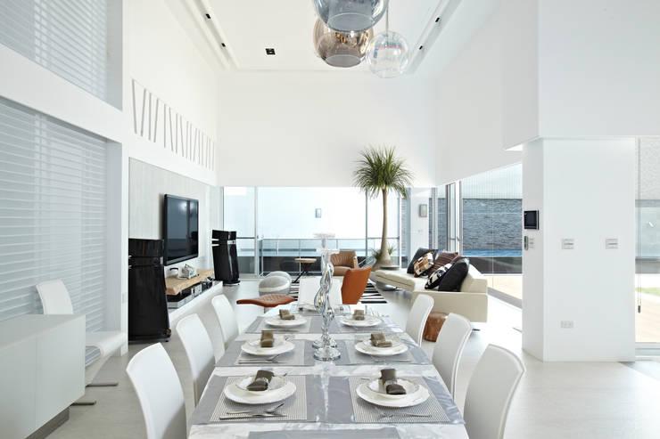 Ruang Makan oleh 瑞嗎空間設計, Modern