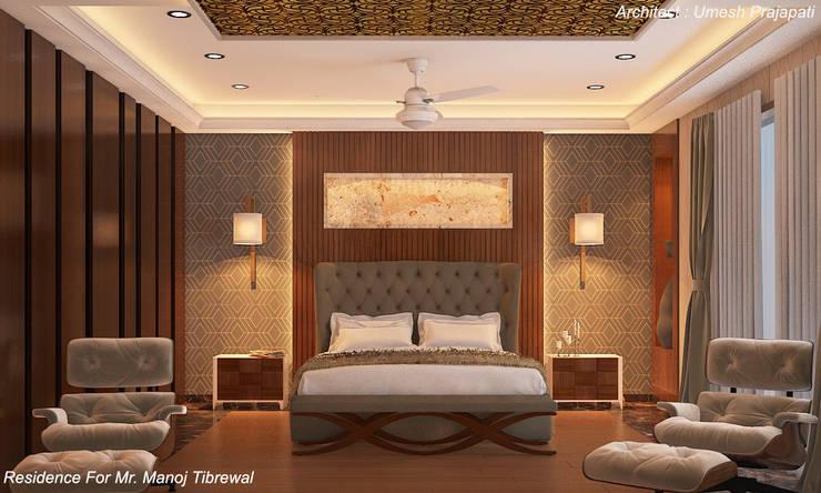 Bedroom by umesh prajapati designs, Modern