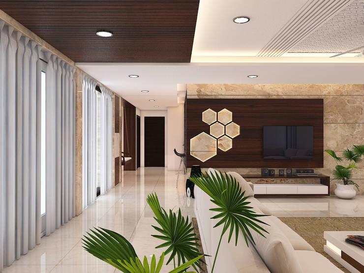 Living room by umesh prajapati designs, Modern