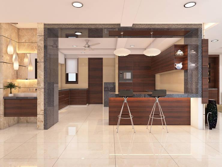 Dining room by umesh prajapati designs, Modern