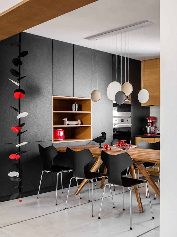 Kitchen and dining:  Built-in kitchens by C&M Media, Modern