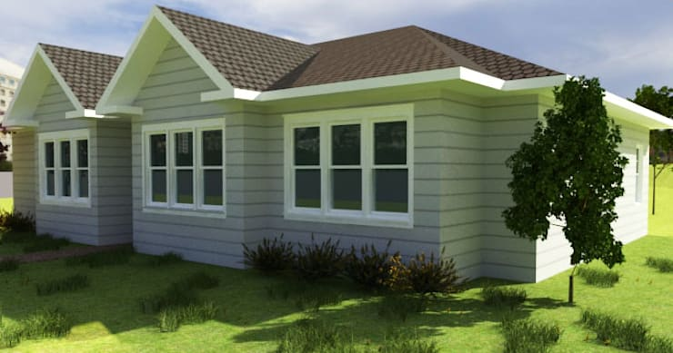 Vivienda estilo tradicional 1planta: Casas unifamiliares de estilo  por CEC Espinoza y Canales LTDA