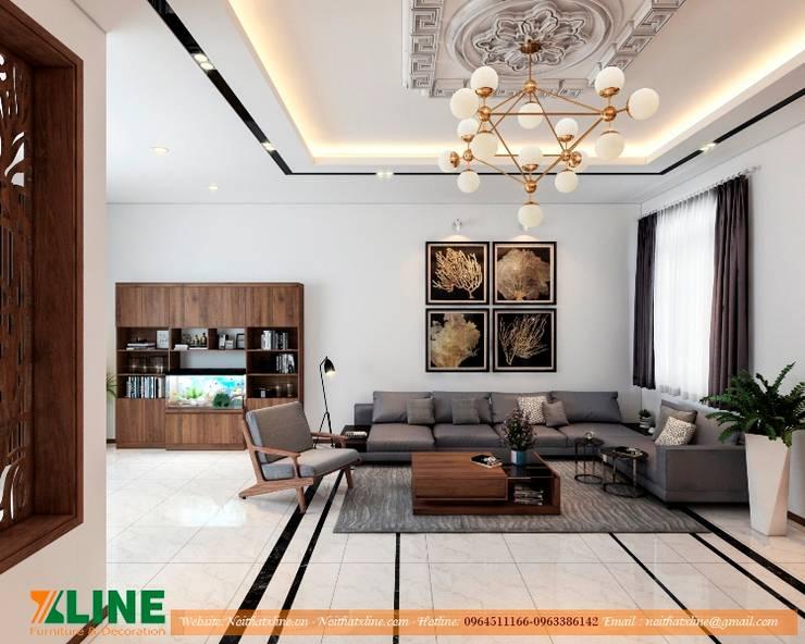 Nội thất phòng khách:  Living room by NỘI THẤT XLINE
