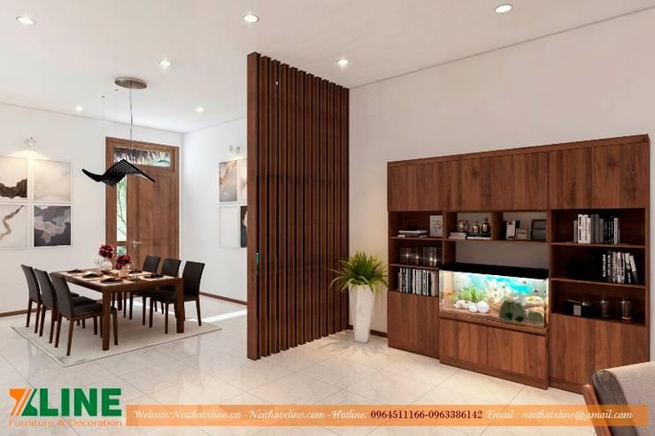 Thi công nội thất nhà ở gia đình chị Hoài :  Kitchen by NỘI THẤT XLINE