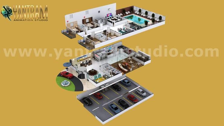 Suelos de estilo  de Yantram Architectural Design Studio