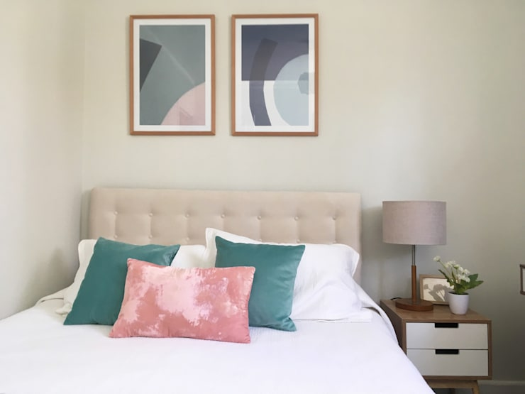 Propuesta Habitacion de visita: Dormitorios de estilo  por MM Design