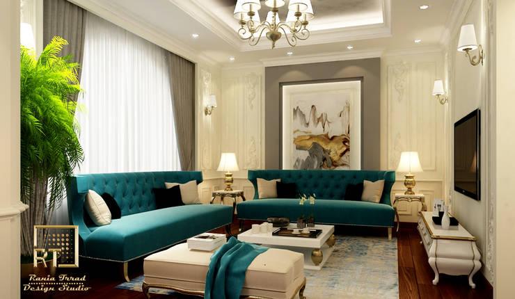 Dubai villa:  تصميم مساحات داخلية تنفيذ Rania Trrad Design Studio