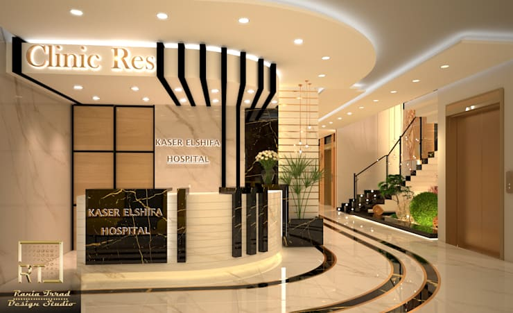 Design of Kasser el_shifa hospital reception: حديث  تنفيذ Rania Trrad Design Studio, حداثي