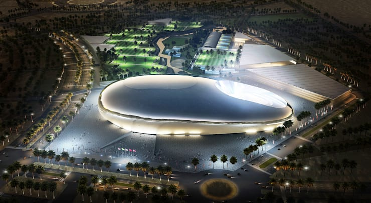 Architectural visualization, Aerial View:  Stadiums by weicheng, Country