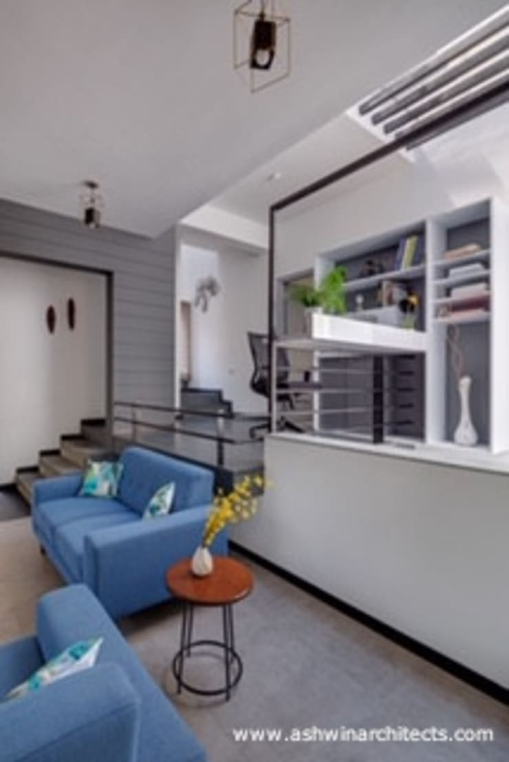 Living room by Ashwin Architects In Bangalore, Modern