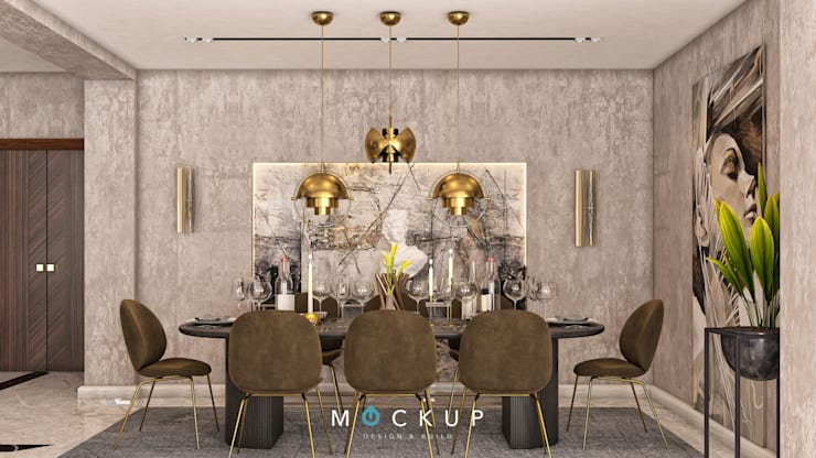 سبرينجز – مدينة الشروق:  غرفة السفرة تنفيذ  Mockup studio, حداثي