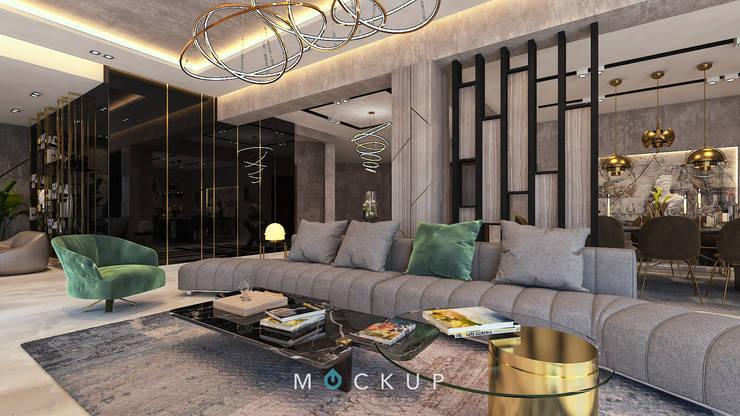 سبرينجز – مدينة الشروق:  غرفة المعيشة تنفيذ  Mockup studio, حداثي