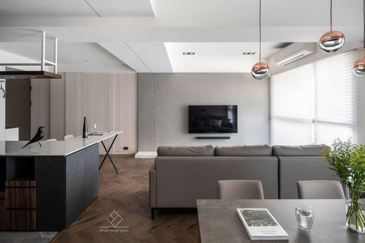 Living room by 極簡室內設計 Simple Design Studio, Modern