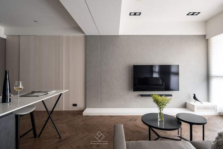 Walls by 極簡室內設計 Simple Design Studio, Modern