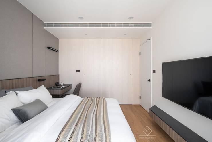 Bedroom by 極簡室內設計 Simple Design Studio, Modern
