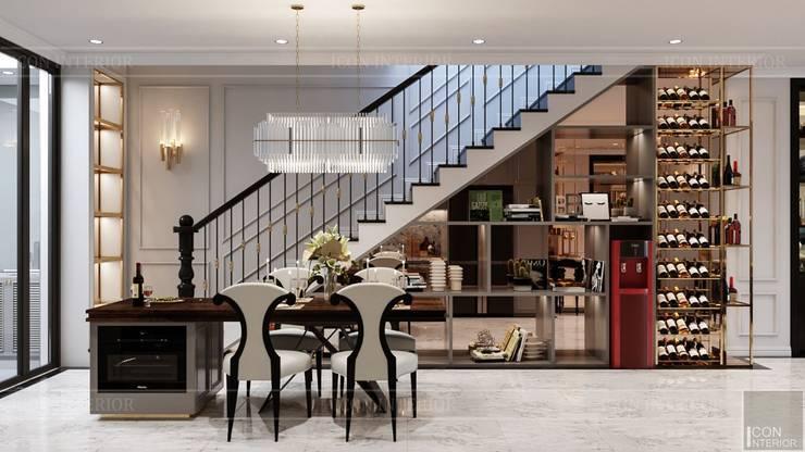 Thiết kế Biệt thự phong cách Đông Dương: KHI THIẾT KẾ LÀ LỜI TỰ SỰ:  Phòng ăn by ICON INTERIOR