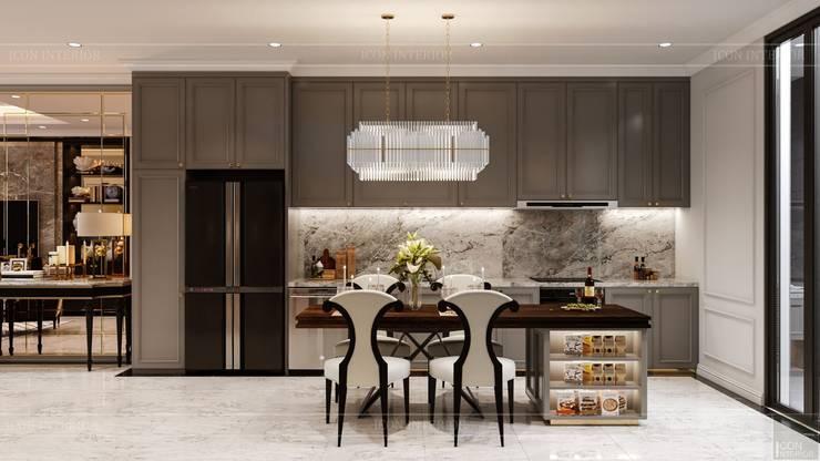 Thiết kế Biệt thự phong cách Đông Dương: KHI THIẾT KẾ LÀ LỜI TỰ SỰ:  Nhà bếp by ICON INTERIOR