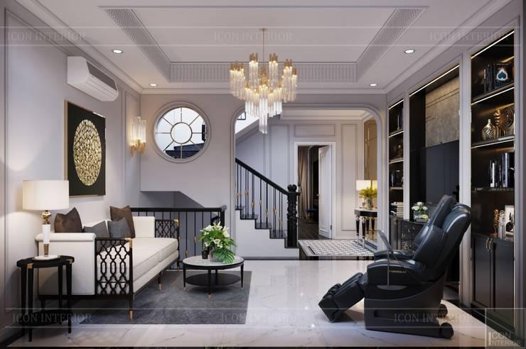 Thiết kế Biệt thự phong cách Đông Dương: KHI THIẾT KẾ LÀ LỜI TỰ SỰ:  Phòng khách by ICON INTERIOR