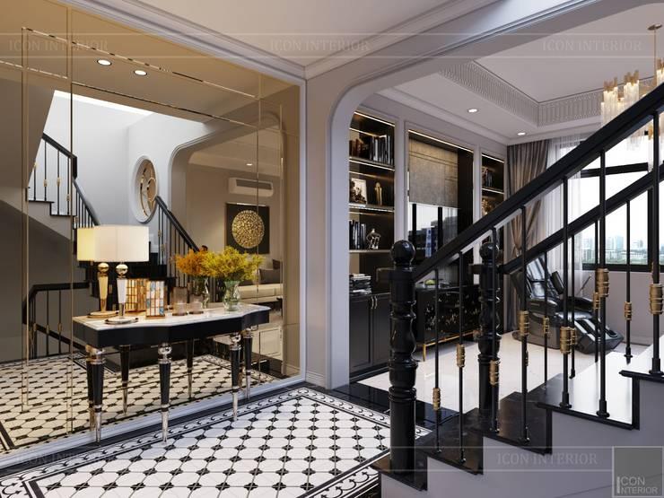 Thiết kế Biệt thự phong cách Đông Dương: KHI THIẾT KẾ LÀ LỜI TỰ SỰ:  Cầu thang by ICON INTERIOR