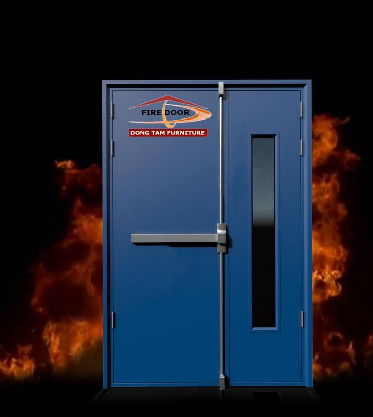 Cửa chống cháy 2 cánh:  Windows & doors  by Công ty Cổ Phần Trang Trí Nội Thất Đồng Tâm