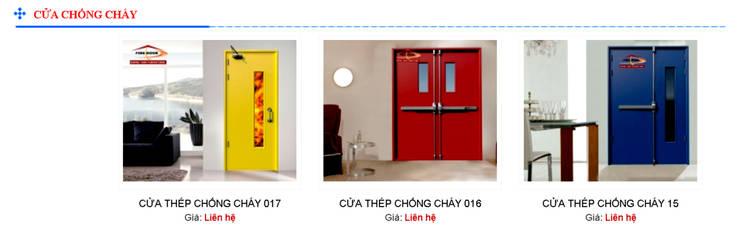 Cửa chống cháy:  Windows & doors  by Công ty Cổ Phần Trang Trí Nội Thất Đồng Tâm