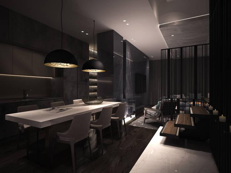 如沐森林:  餐廳 by 工聚室內設計,
