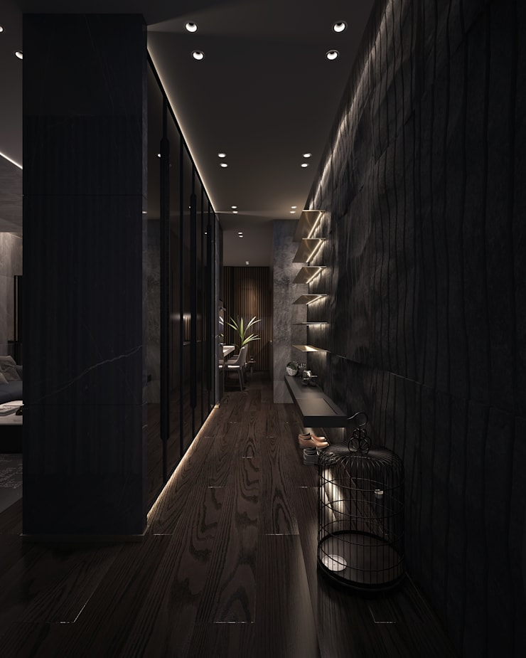 如沐森林:  走廊 & 玄關 by 工聚室內設計,