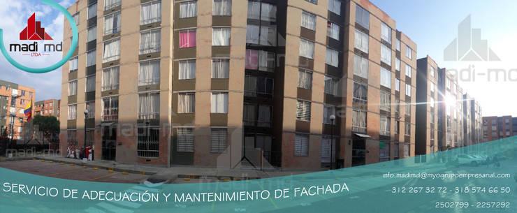 MANTENIMIENTO DE FACHADAS: Conjunto residencial de estilo  por MADI MD LTDA, Clásico