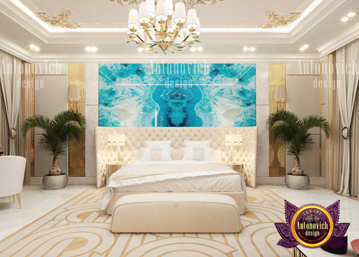 Elegant Female Bedroom Designer:   by Luxury Antonovich Design,