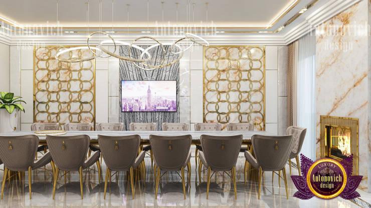 Dining Room Elegance By Female Designer:   by Luxury Antonovich Design,