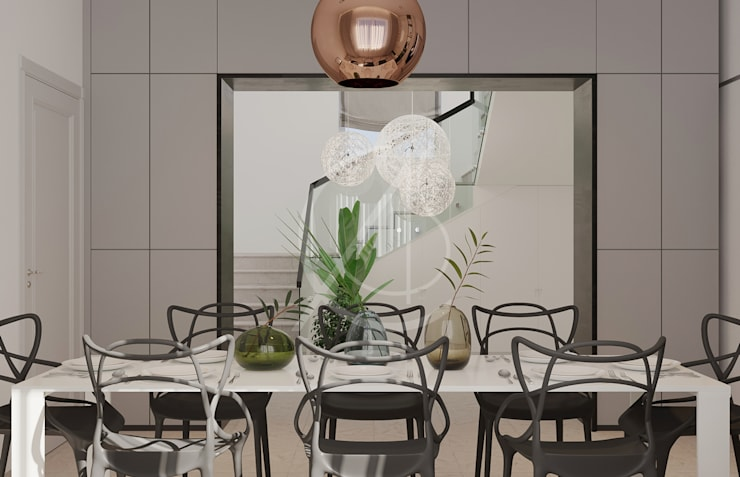 Comedores de estilo  de Comelite Architecture, Structure and Interior Design ,