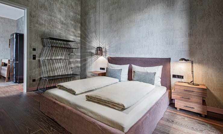 Diseño y Dotación : Habitaciones de estilo  por De Stefano Disegno,