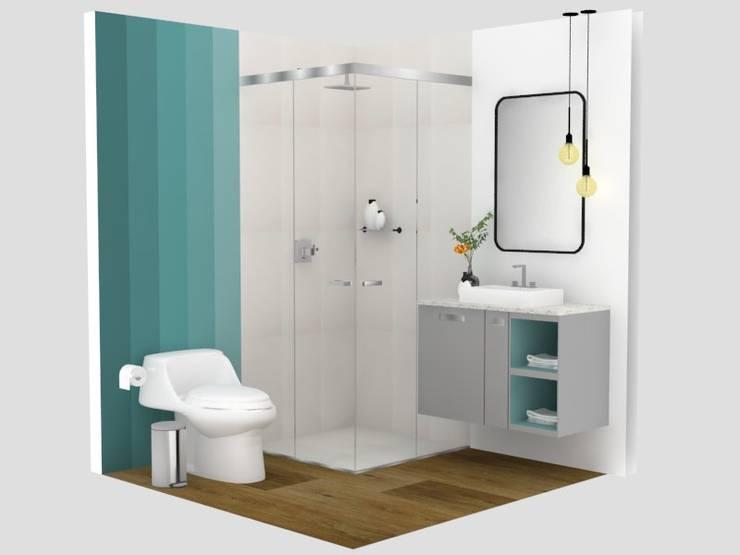Baño degradé:  de estilo  por Decó ambientes a la medida,