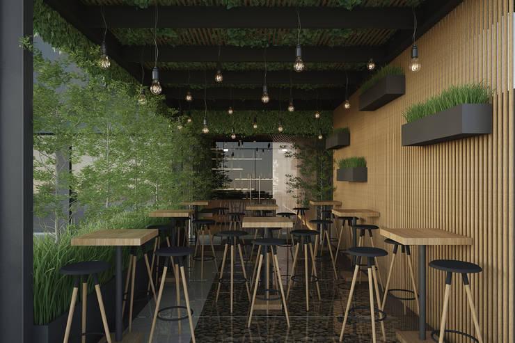 Bars & clubs de style  par 21arquitectos,