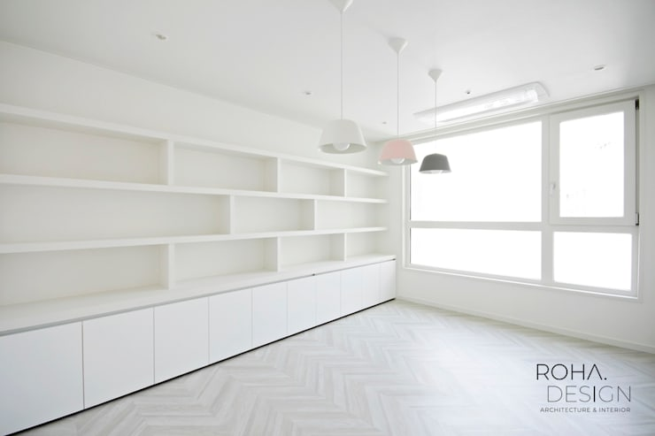 부산 더샵센텀파크 인테리어 – 40평 아파트 인테리어: 로하디자인의  방,
