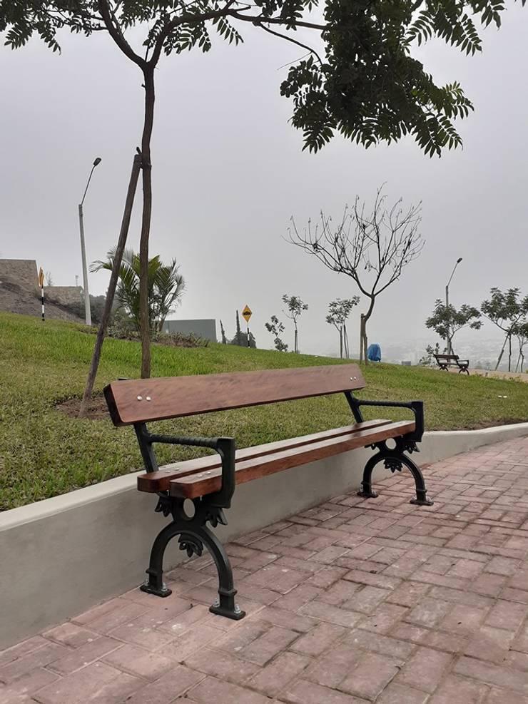 banca modelo colonial: Jardines de estilo  por Patio & Hierro