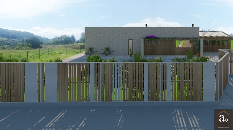 Vivienda Unifamiliar en Cabueñes, Gijón - Actualmente en proyecto: Casas unifamilares de estilo  de arQmonia estudio, Arquitectos de interior, Asturias,