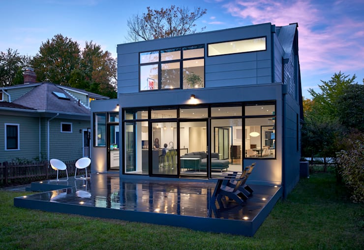 Back 2 Back:  Houses by KUBE Architecture, Modern