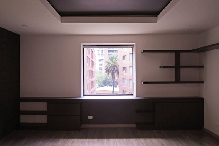 Mueble  escritorio : Estudio de estilo  por HS2E Arquitectura,
